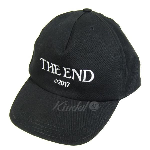 【中古】OFF WHITE THE END CAP コットンジエンド刺繍キャップ ブラック サイズ:U 【140319】(オフホワイト)