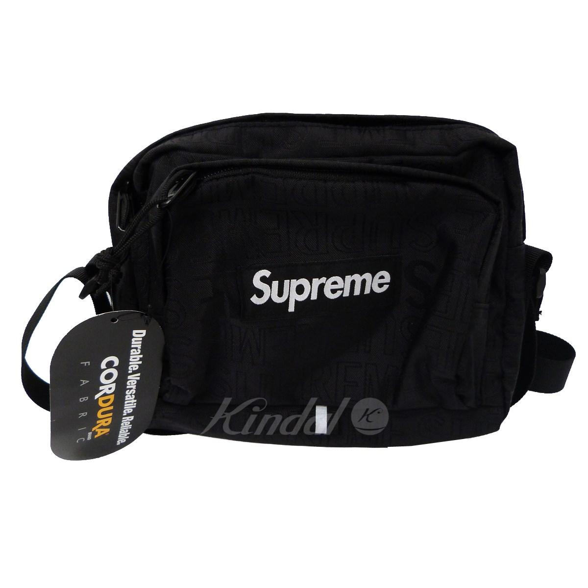 【中古】SUPREME 19SS「Shoulder Bag」ショルダーバッグ ブラック 【送料無料】 【140319】(シュプリーム)