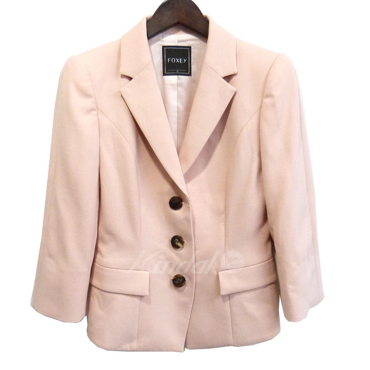 【中古】FOXEY パワーベーシックジャケット ピンク サイズ:38 【送料無料】 【140319】(フォクシー)