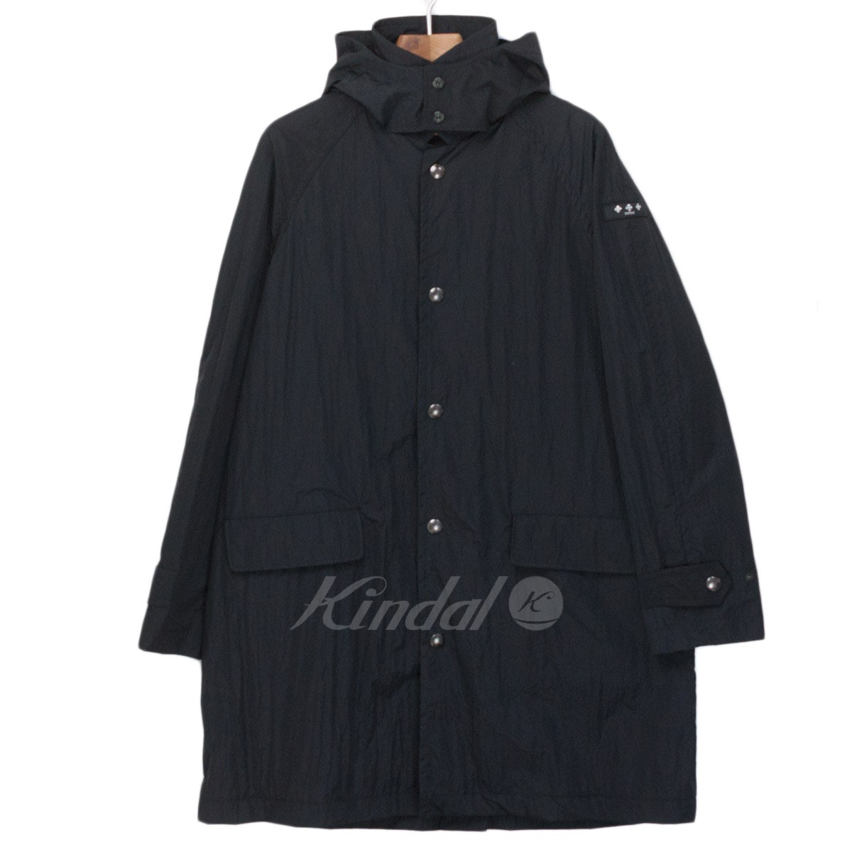 【中古】TATRAS 18SS ナイロン ロングコート ブラック サイズ:2 【送料無料】 【140319】(タトラス)