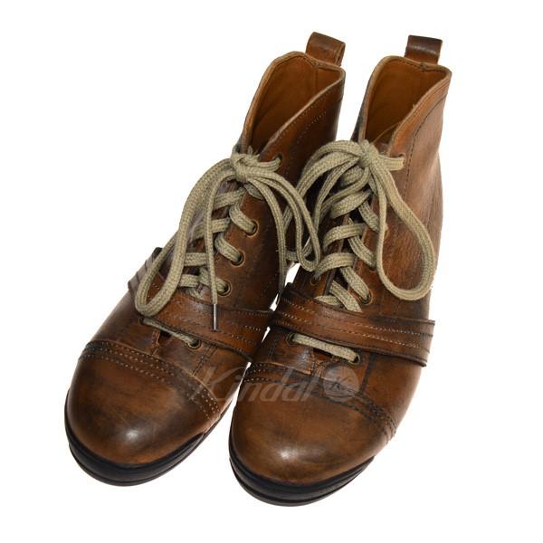 【中古】GEOFFREY B SMALL 18AW ブーツ ブラウン サイズ:41 【送料無料】 【160319】(ジェフリービースモール)