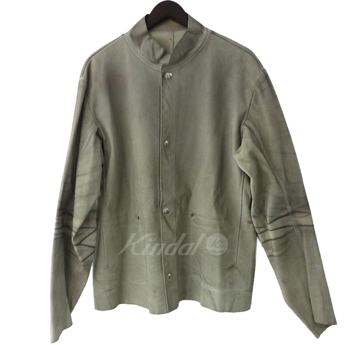 【中古】Martin Margiela 10 03SS スウェードレザージャケット グレー サイズ:50 【送料無料】 【160319】(マルタンマルジェラ10)