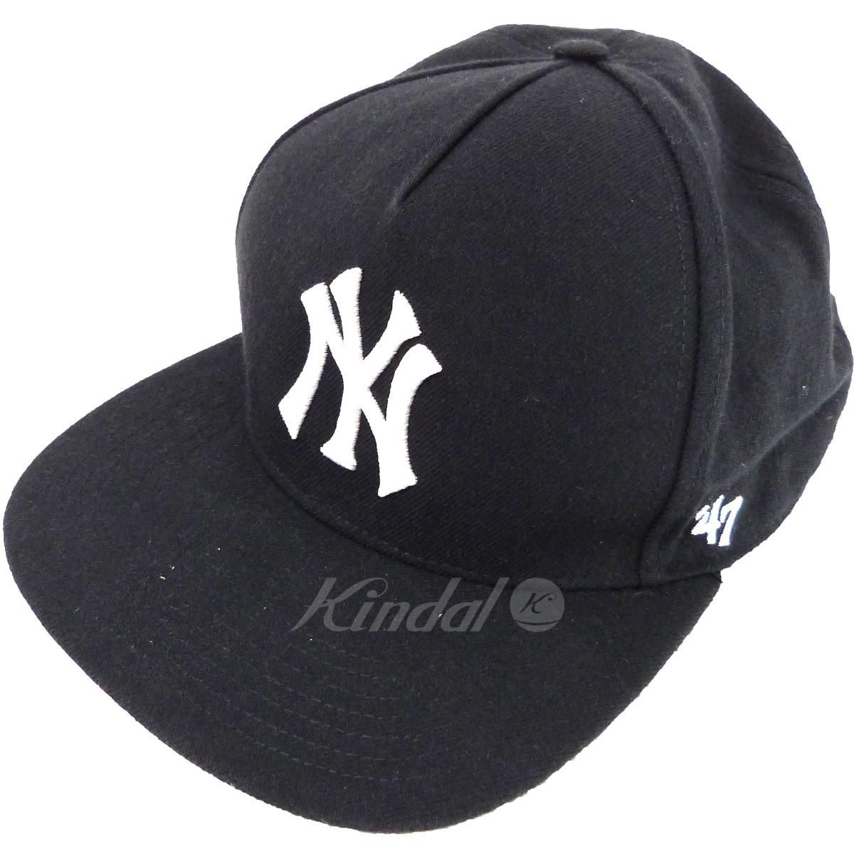 【中古】Supreme×New York Yankees×47 BRAND '15SS「47 Brand 5-Panel Cap」5パネルキャップ ネイビー サイズ:ONE 【送料無料】 【160319】(シュプリーム ニューヨークヤンキース)