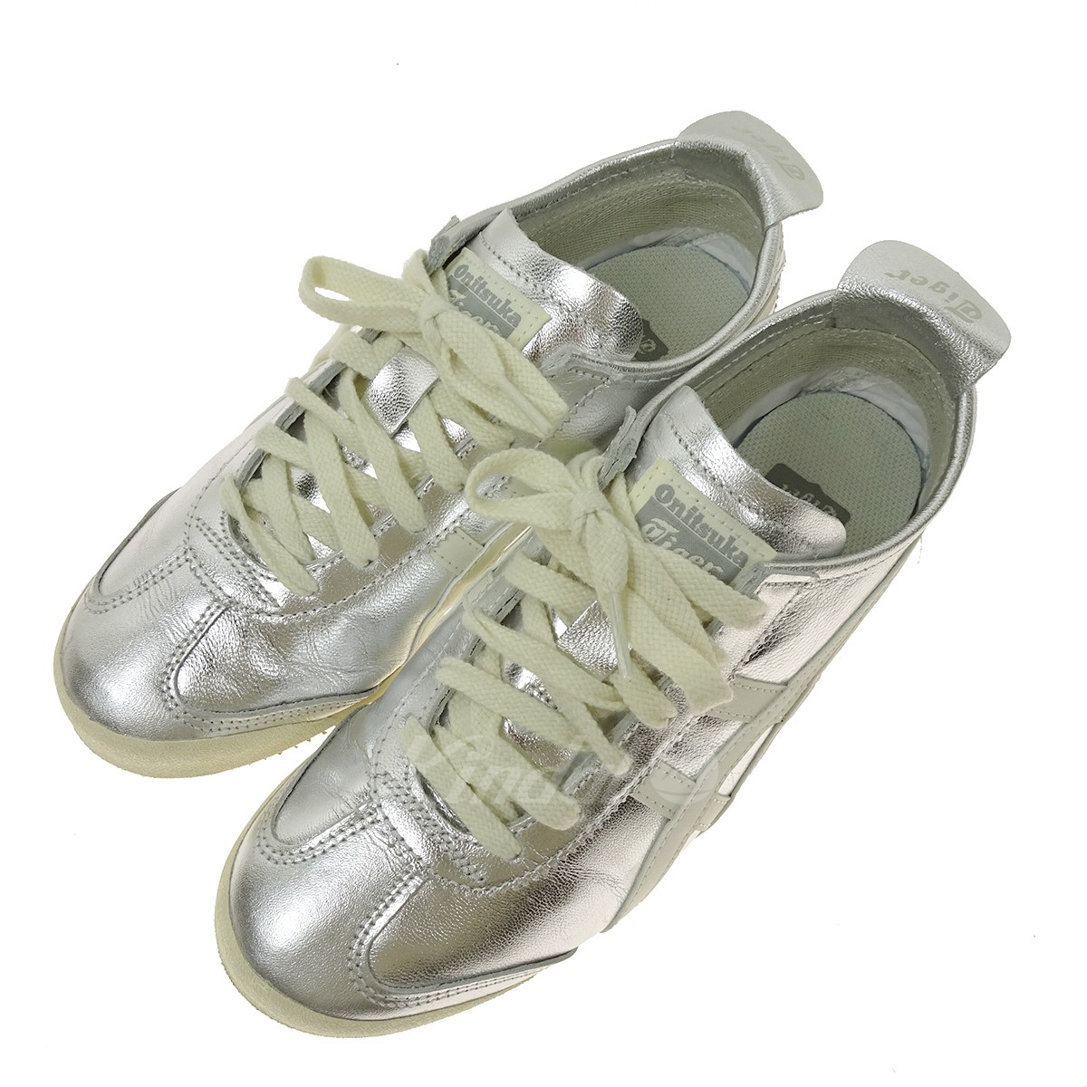 low priced 5723f bbb33 Onitsuka tiger MEXICO 66 THL7C2 low-frequency cut sneakers silver size: 24  5cm (Onitsuka tiger)