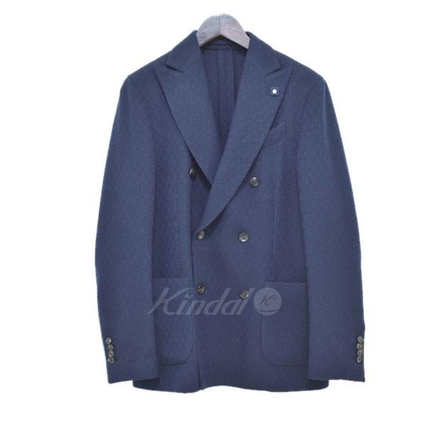 【中古】LARDINI ダブルジャケット JJ906Q ネイビー サイズ:44 【送料無料】 【220319】(ラルディーニ)
