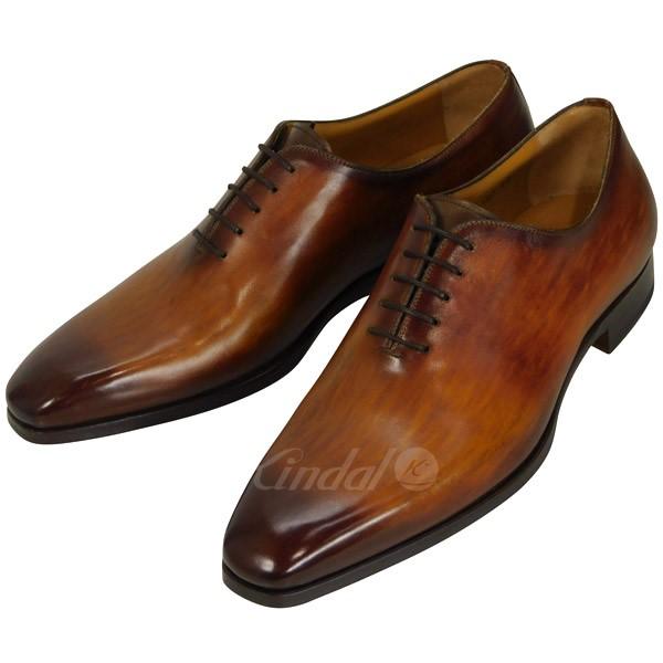 【中古】MAGNANNI ホールカット ドレスシューズ ビジネスシューズ 革靴 ブラウン サイズ:42 【送料無料】 【210319】(マグナーニ)