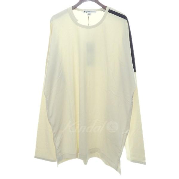 【中古】Y-3 18SS「3-STRIPES TEE」長袖Tシャツ オフホワイト サイズ:XL 【送料無料】 【220319】(ワイスリー)