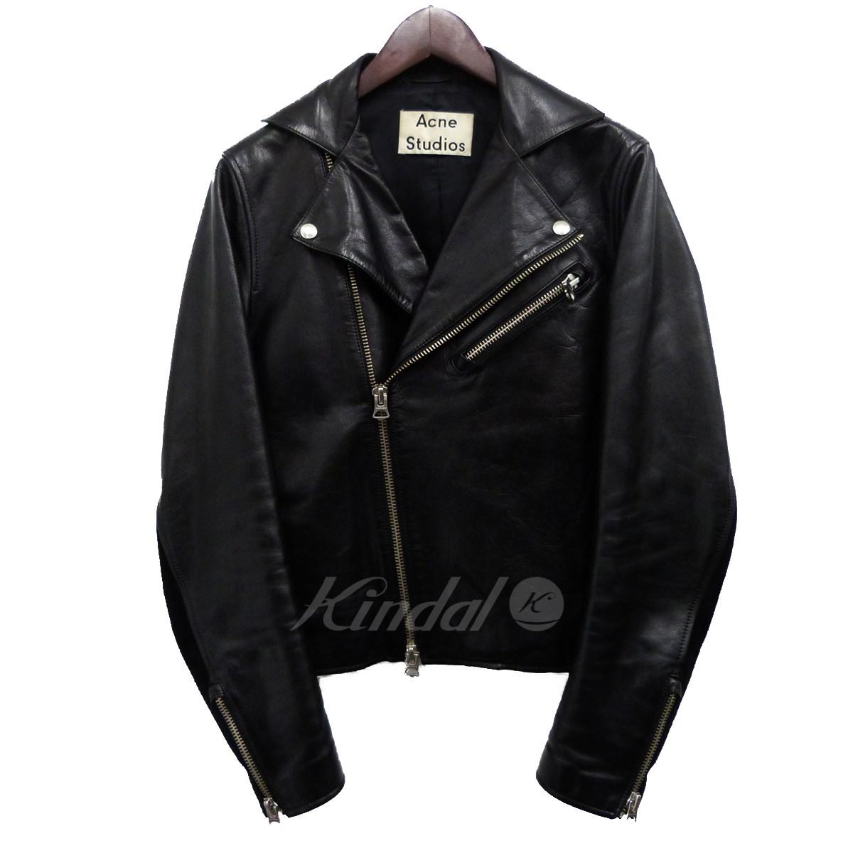 【中古】ACNE STUDIOS 15SS「GINSON」レザーライダースジャケット ブラック サイズ:44 【送料無料】 【220319】(アクネストゥディオズ)