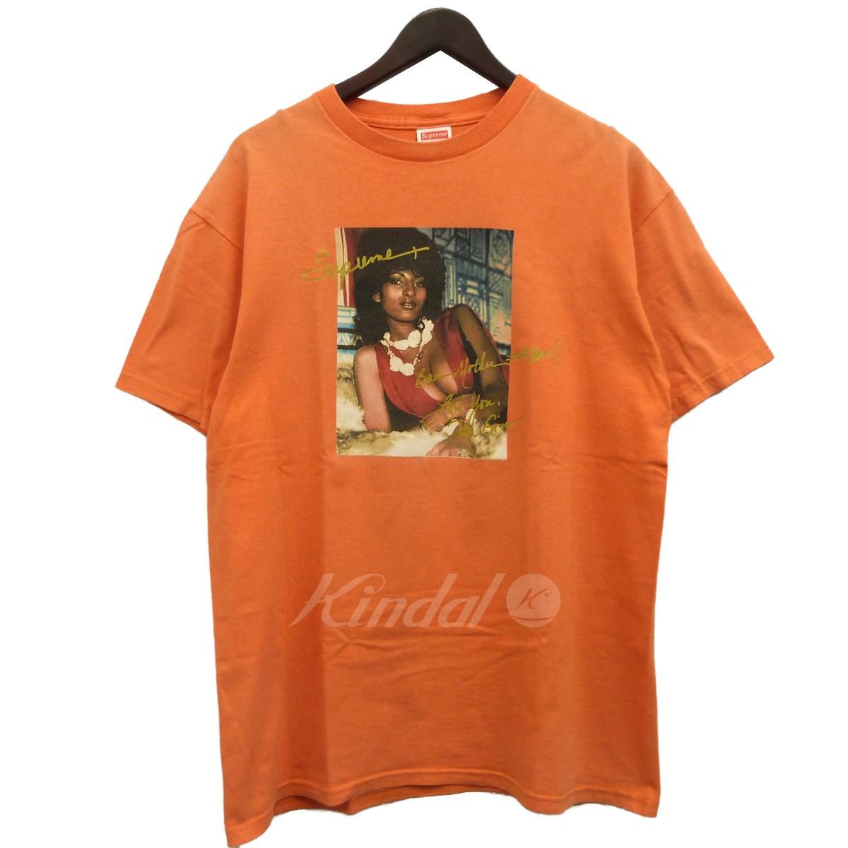 【中古】SUPREME 12SS「Pam Grier Tee」パムグリアーTシャツ オレンジ サイズ:L 【送料無料】 【220319】(シュプリーム)