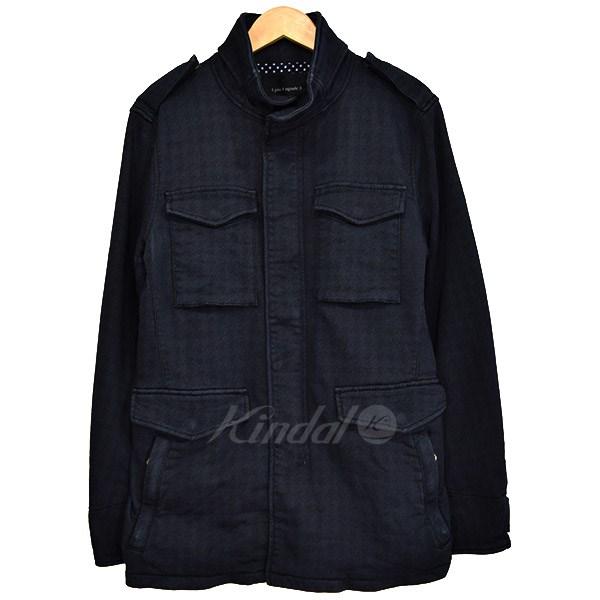 【中古】1 piu 1 uguale 3 sweat denim new wave M65 jacket M65タイプジャケット 2017SS ネイビー サイズ:4 【240319】(ウノ ピュ ウノ ウグァーレ トレ)