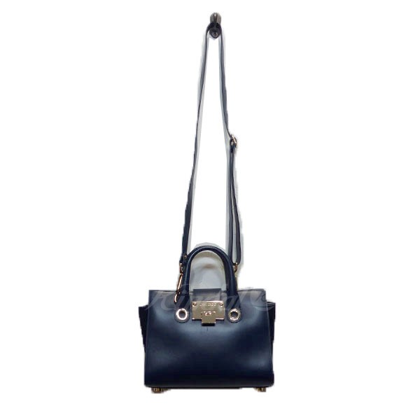 【中古】JIMMY CHOO ジミーチュウ 2WAY バッグ 鞄 ネイビー サイズ:- 【240319】(ジミーチュウ)