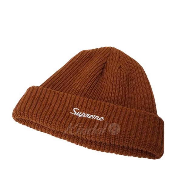 500884a5 SUPREME flowing script logo embroidery beanie knit cap Loose Gause Beanie  brown size: - Supreme ...