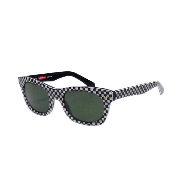 【中古】SUPREME ALTON サングラス 眼鏡 メガネ ブラック ホワイト 【送料無料】 【270319】(シュプリーム)