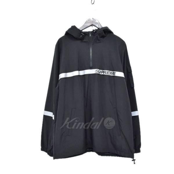 【中古】SUPREME 18SS プルオーバーブルゾン Reflective Taping Hooded Pullover ブラック サイズ:L 【送料無料】 【280319】(シュプリーム)