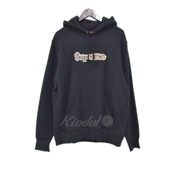 【中古】SUPREME 18SS Gonz Logo Hooded Sweatshirt プルオーバーパーカー ブラック サイズ:M 【280319】(シュプリーム)