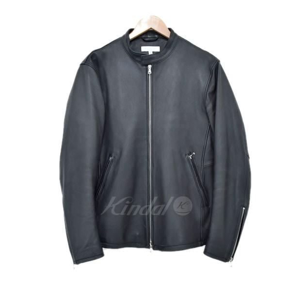 【中古】BEAUTY & YOUTH シープシングルライダースジャケット ブラック サイズ:XL 【送料無料】 【280319】(ビューティアンドユース)