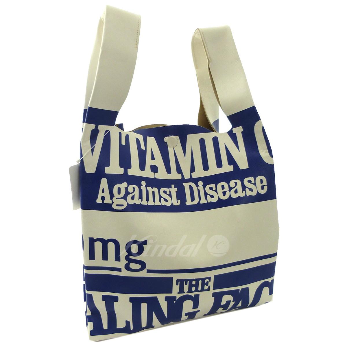 【中古】MARTIN MARGIELA 11 '18AW 「Vitamin Leather Bag」ビタミンレザーバッグ ブルー×ホワイト 【送料無料】 【280319】(マルタンマルジェラ11)