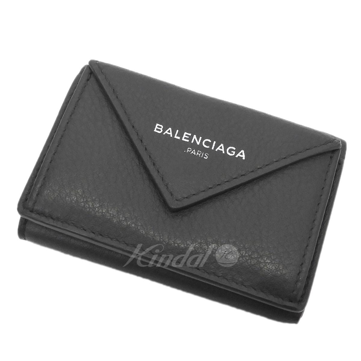 【中古】BALENCIAGA ペーパーミニウォレット グレー 【送料無料】 【300319】(バレンシアガ)