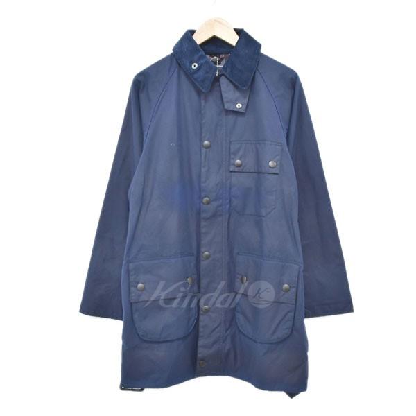 【中古】Barbour オイルドジャケット SOLWAY ZIPPER SL MWX1041 ソルウェイジッパー SL ネイビー サイズ:34 【300319】(バブアー)