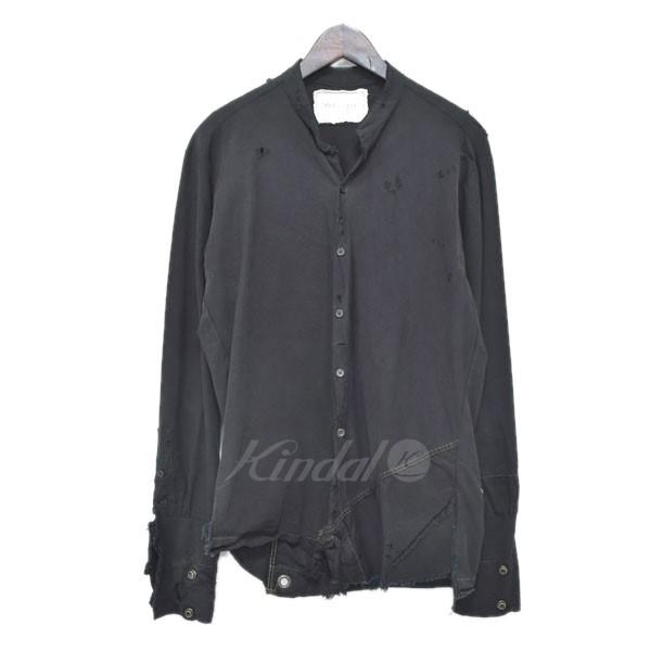 【中古】GREG LAUREN The Tent Studio Shirt コットンシャツ ブラック サイズ:1 【送料無料】 【300319】(グレッグローレン)