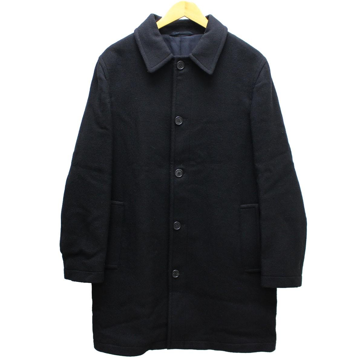 【中古】MARNI メルトン ステンカラー コート 13AW 国内正規品 ブラック サイズ:44(M) 【送料無料】 【290319】(マルニ)
