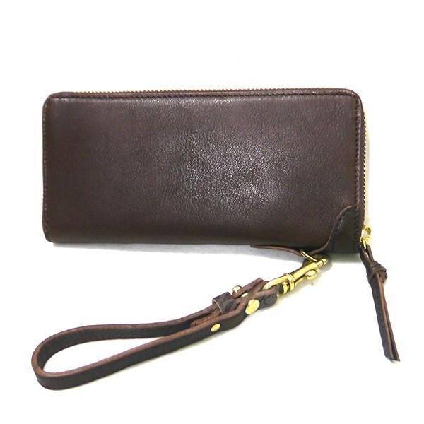 【中古】SLOW bono round long wallet ラウンドジップロングウォレット 長財布 ブラウン 【送料無料】 【290319】(スロウ)