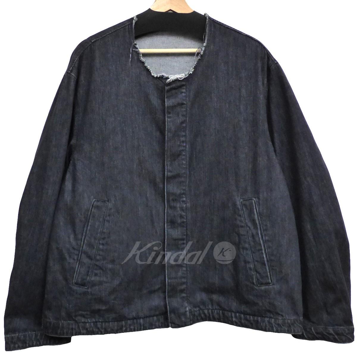 【中古】NAME. 17AWCutoff Collar Denim Jacketカットオフオーバーサイズデニムジャケット ブラック サイズ:1 【送料無料】 【290319】(ネーム)