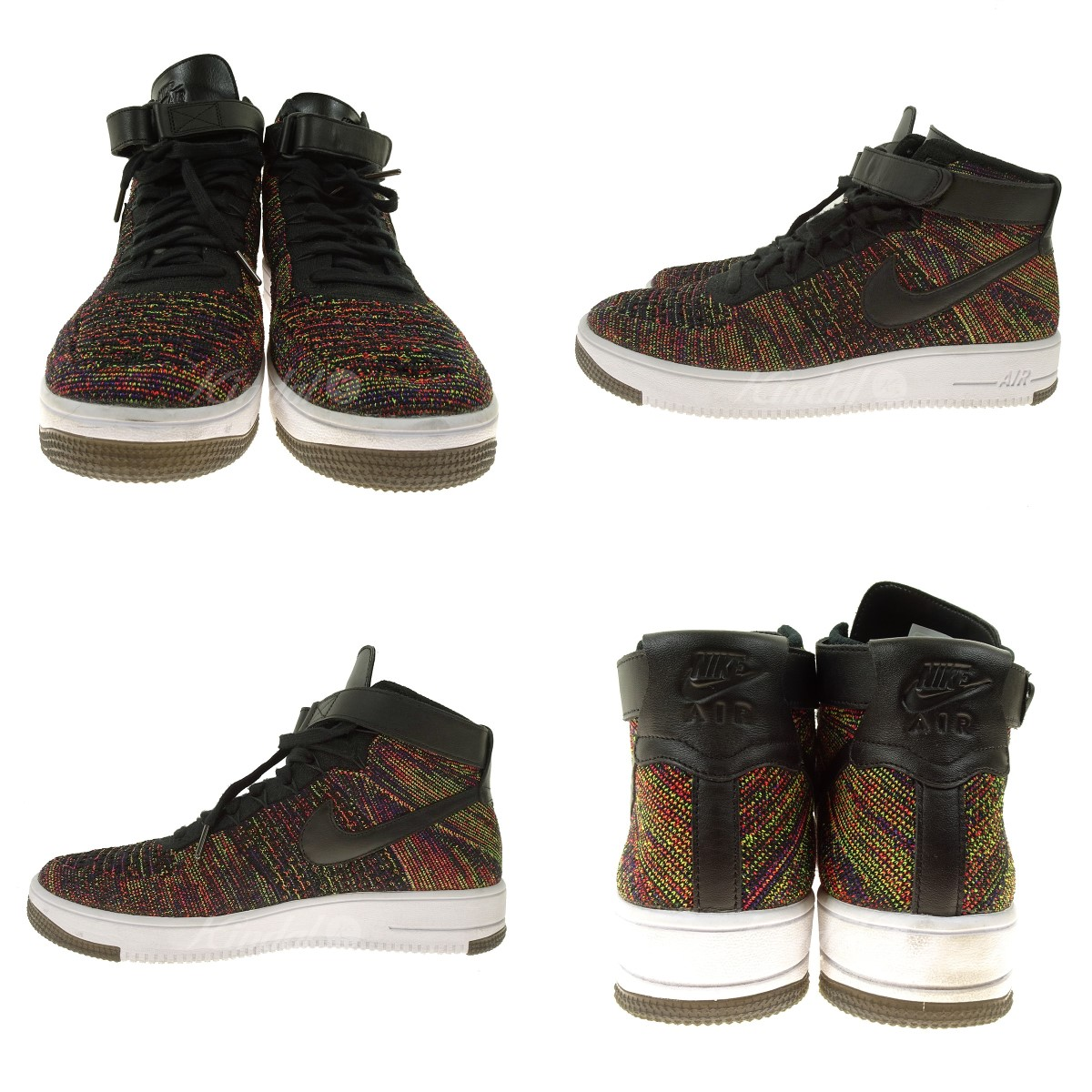 NIKE AIR FORCE 1 ULTRA FLYKNIT MID 817,420 002 multicolored size: 29 5cm (Nike)
