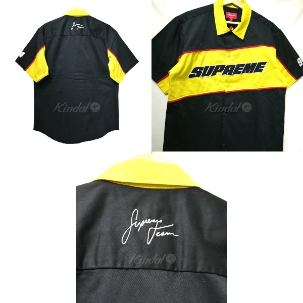fb93e6bcd11d SUPREME シュプリーム 2018SS Color Blocked Work Shirt work shirt yellow X black  size  M (シュプリーム)