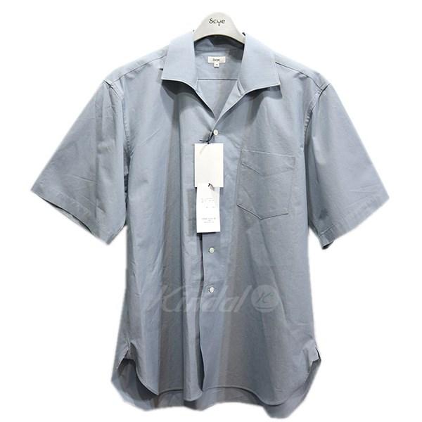 【中古】SCYE 19SS オープンカラシャツ 開襟シャツ ライトグレー サイズ:38 【送料無料】 【010419】(サイ)