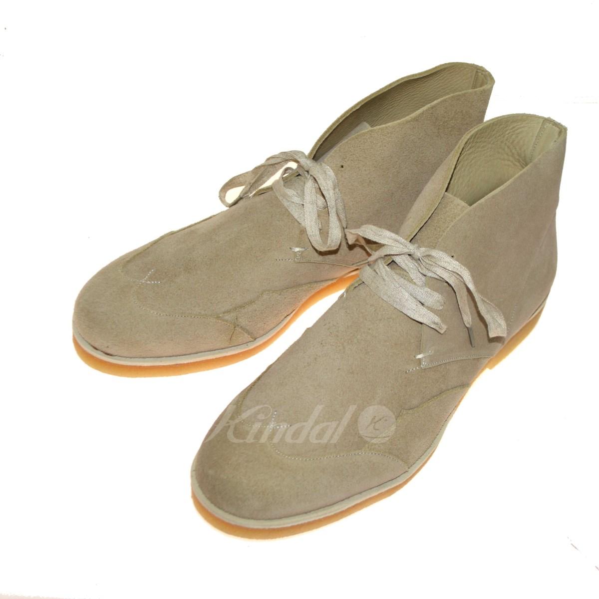 【中古】foot the coacher CHUKKA WING チャッカブーツ ベージュ サイズ:9 【送料無料】 【020419】(フットザコーチャー)