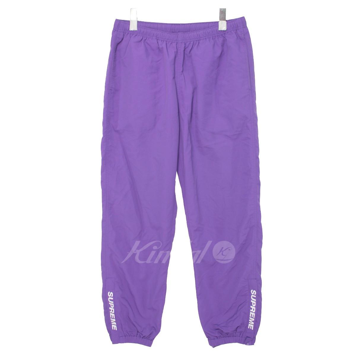 【中古】SUPREME 17AW Warm Up Pant 裾ロゴナイロンウォームアップパンツ パープル サイズ:M 【送料無料】 【020419】(シュプリーム)