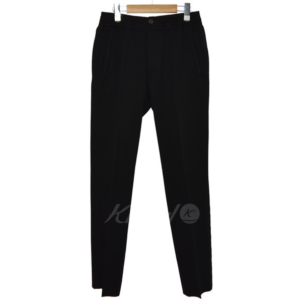 【中古】LANVIN ウエスト切替パンツ ブラック サイズ:46 【送料無料】 【040419】(ランバン)