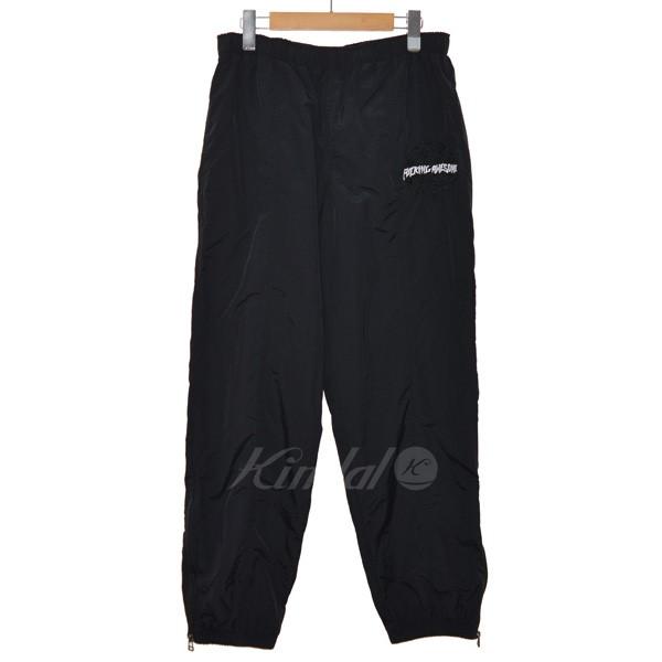 【中古】Fucking Awesome 18AW SPIRAL TRACK PANTS トラックパンツ ブラック サイズ:L 【送料無料】 【040419】(ファッキングオーサム)