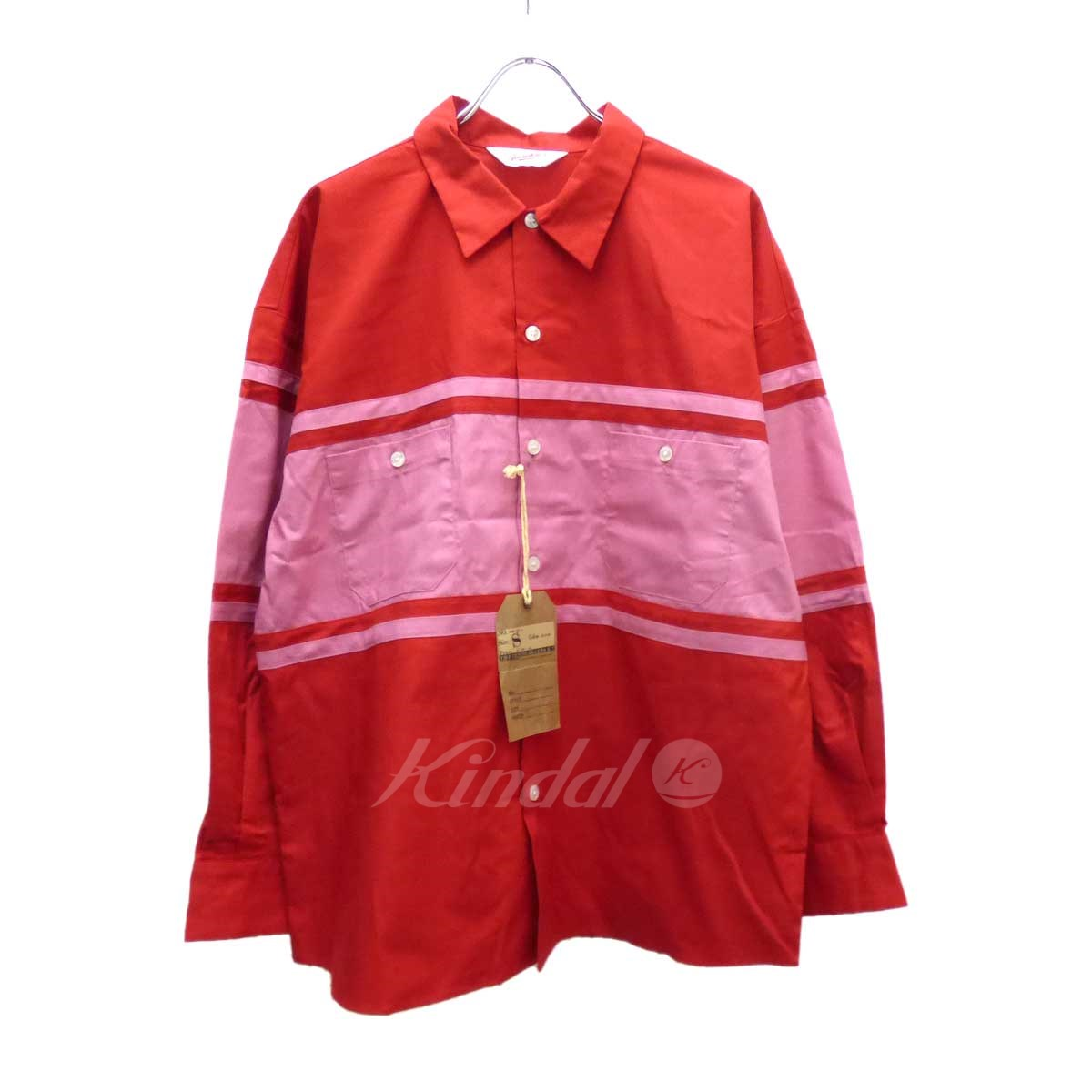 【中古】TENDERLOIN WORK SHT U ワークシャツ レッド サイズ:S 【送料無料】 【040419】(テンダーロイン)