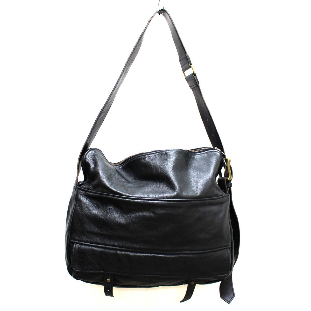 【中古】jas-m.b. レザー ショルダー バッグ かばん ブラック サイズ:- 【030419】(ジャスエムビー)