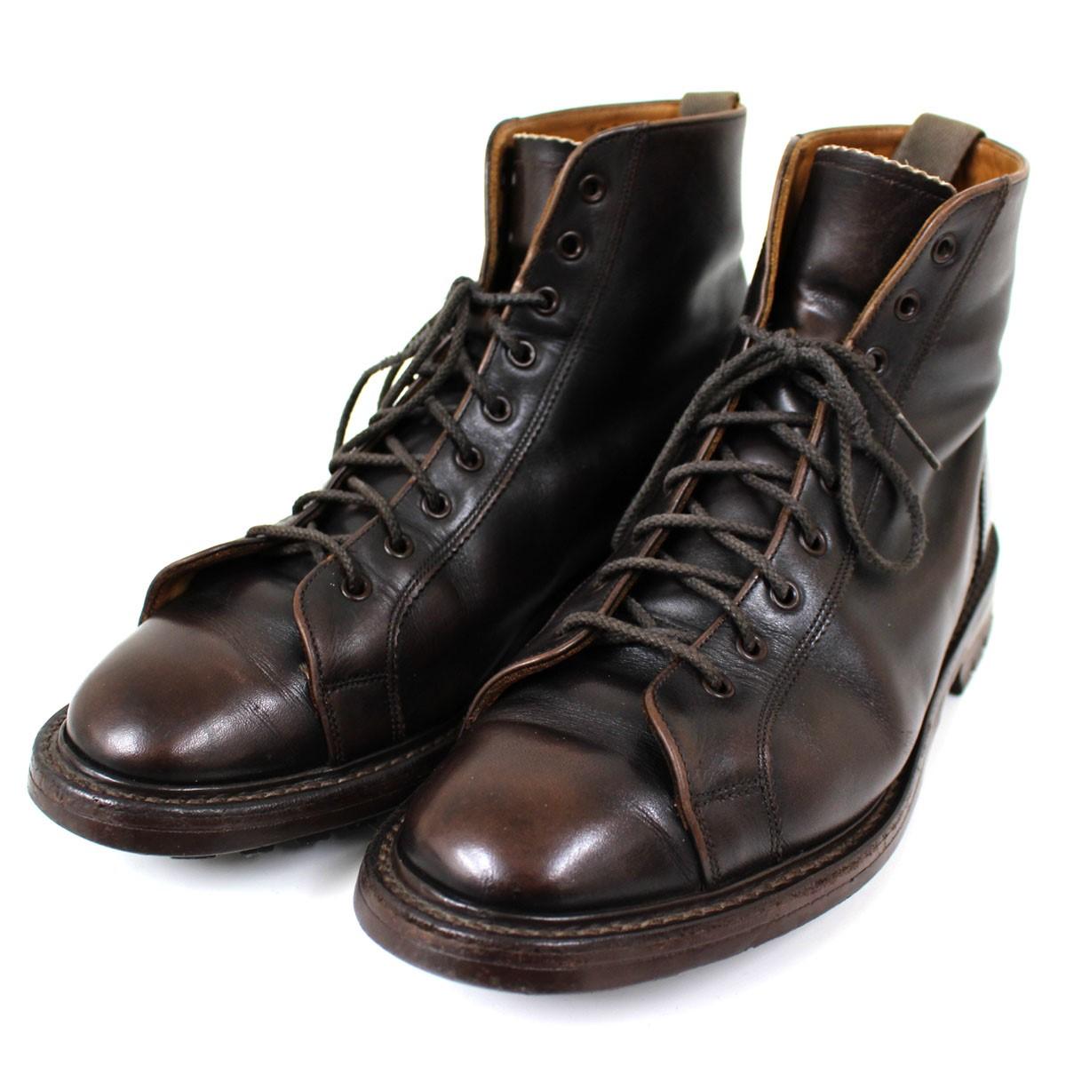 【中古】TRICKER'S モンキー ブーツ M6057 9ホール ブラウン サイズ:9 【送料無料】 【030419】(トリッカーズ)