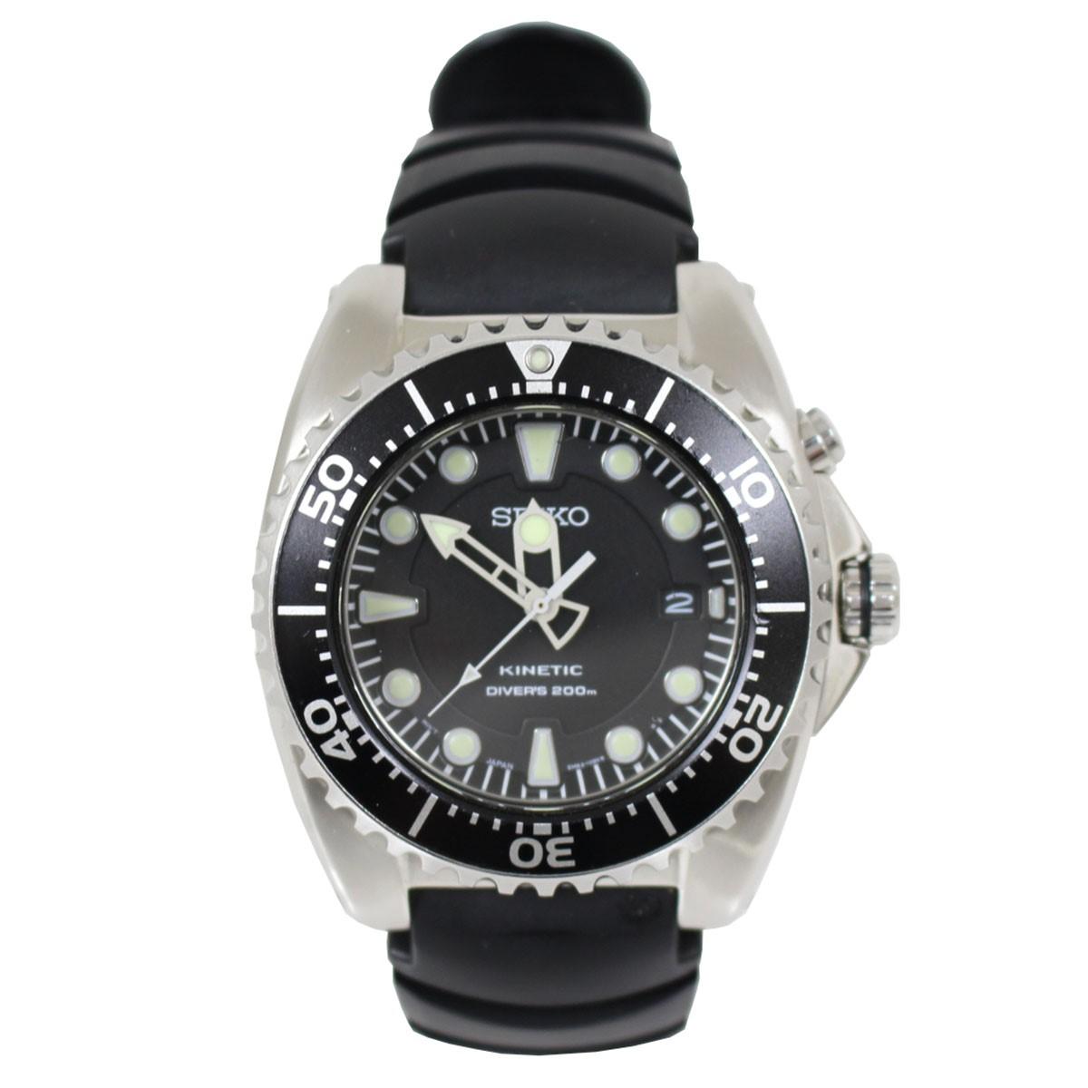 【中古】SEIKO Kinetic キネティック 腕時計 5M62-0BL0 自動巻き シルバー、ブラック サイズ:- 【送料無料】 【030419】(セイコー)