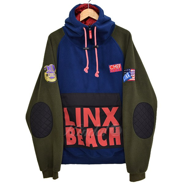 【中古】CL-95INC LINX BEACH MK3 Pullover Hoodie プルオーバーパーカー ネイビー×カーキ サイズ:L 【送料無料】 【030419】(シーエル95インク)