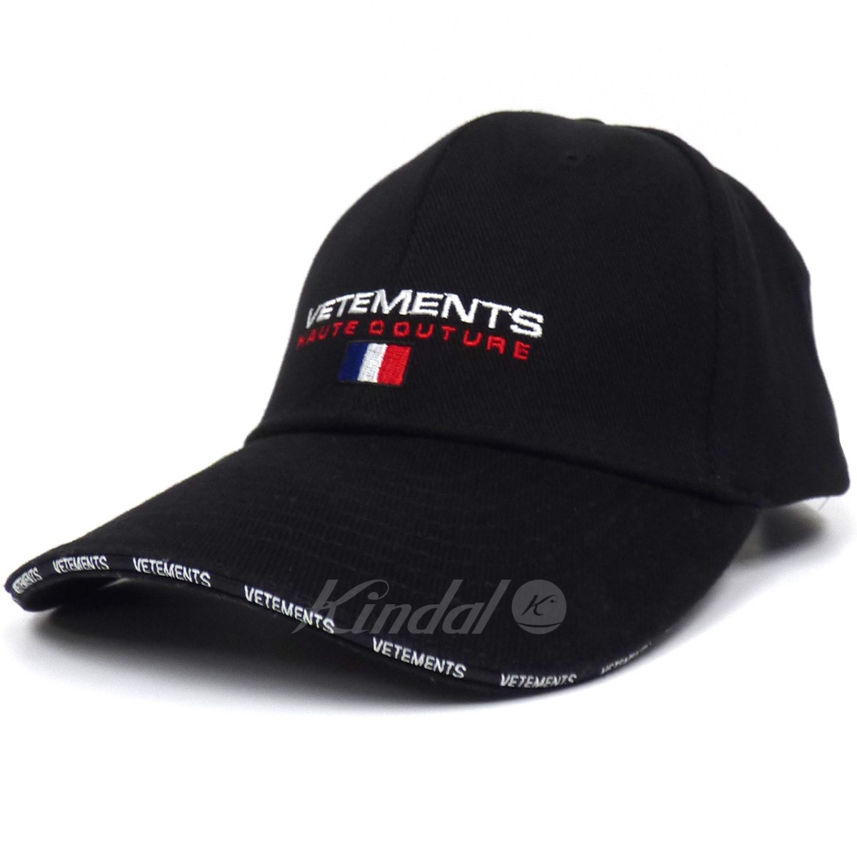 27dc6b1d1 VETEMENTS 18SS Logo Embroidered Cotton Cap logo cap black size: Free (can  adjust it) (ヴェトモン)