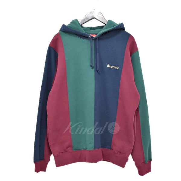 6fe9ec05083 SUPREME 18AW Tricolor Hooded Sweatshirt tricolor pullover parka burgundy  green other size  M (シュプリーム)