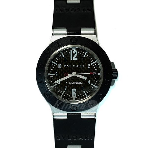【中古】BVLGARI 【AL38TA】アルミニウム 自動巻き腕時計 文字盤:ブラック系 ベゼル:ブラック 【送料無料】 【080419】(ブルガリ)