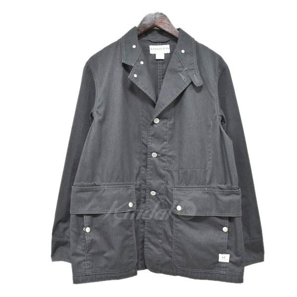 【中古】SASSAFRAS フォールリーフジャケット グレー サイズ:S 【送料無料】 【080419】(ササフラス)