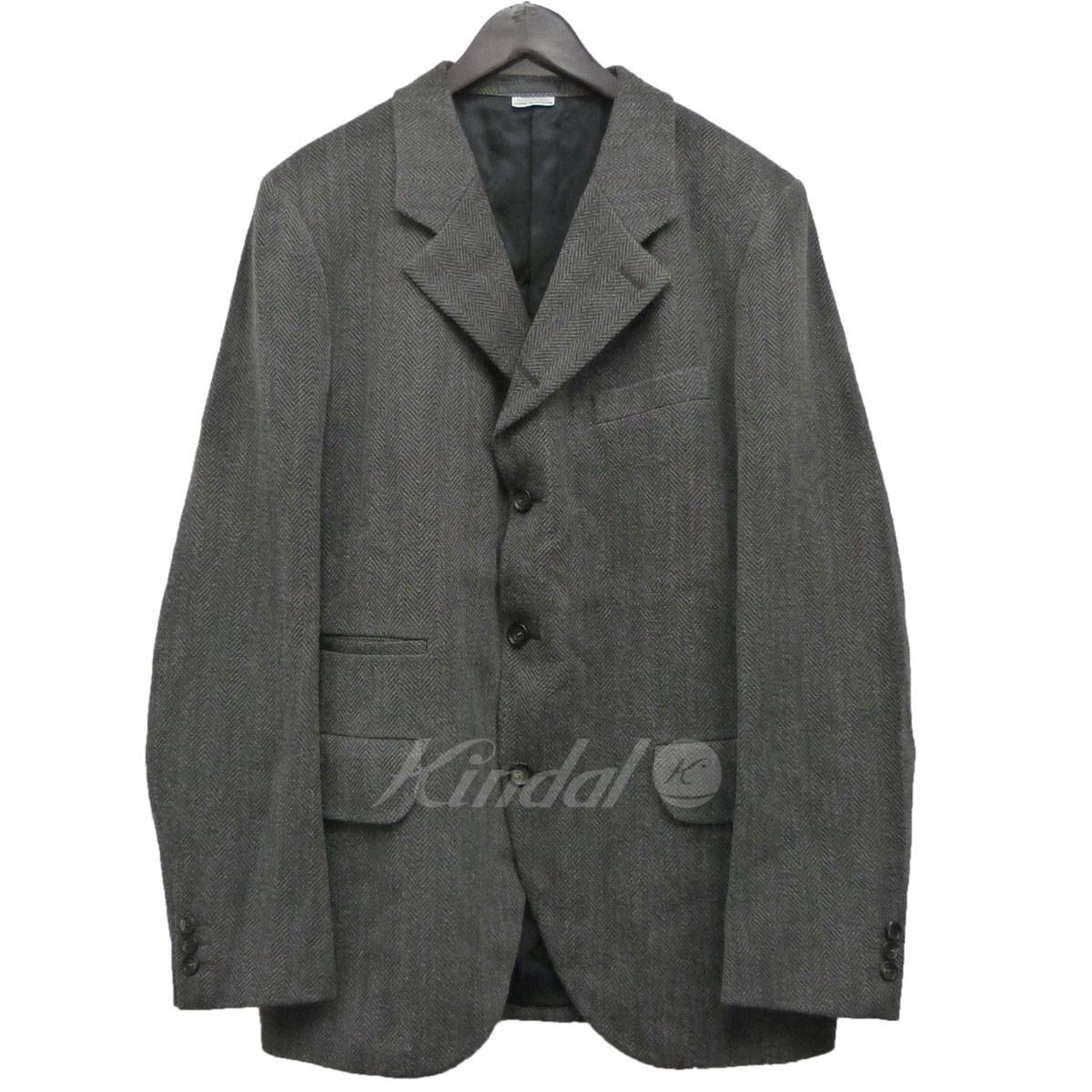 【中古】COMME des GARCONS HOMME DEUX 18AWツイードテーラードジャケット グレー サイズ:L 【080419】(コムデギャルソンオムドゥ)