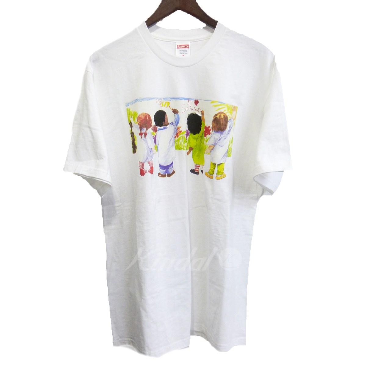 【中古】SUPREME 19SS 「Kids Tee」 キッズTシャツ ホワイト サイズ:M 【080419】(シュプリーム)