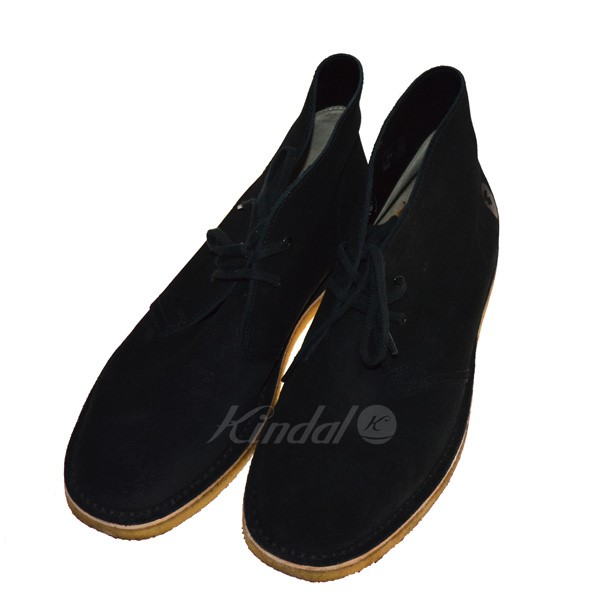 【中古】A BATHING APE×REGAL スウェードチャッカブーツ ブラック サイズ:28cm 【送料無料】 【090419】(アベイシングエイプ×リーガル)
