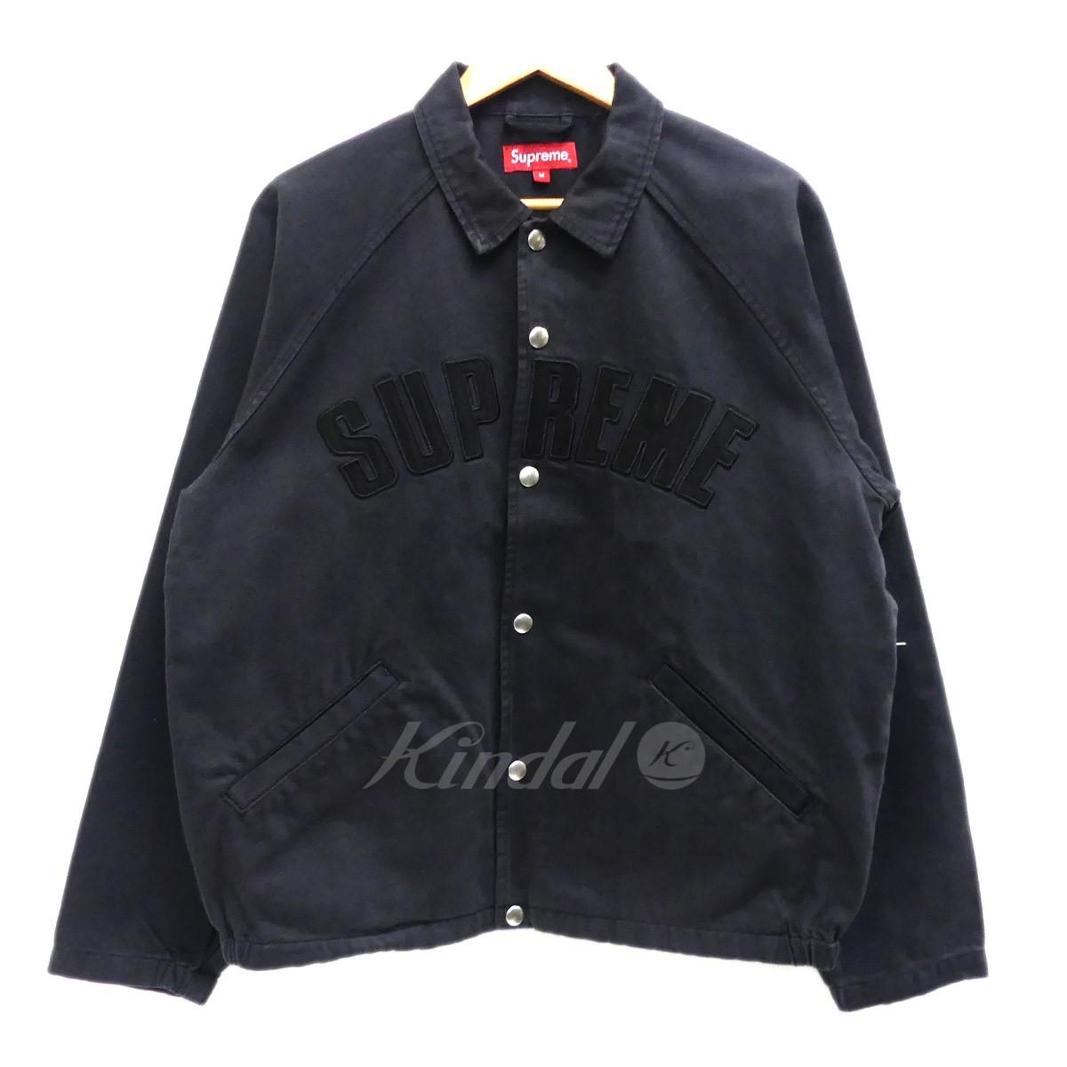 【中古】SUPREME 「2018AW Snap Twill Jacket」 コーチジャケット ブラック サイズ:M 【090419】(シュプリーム)