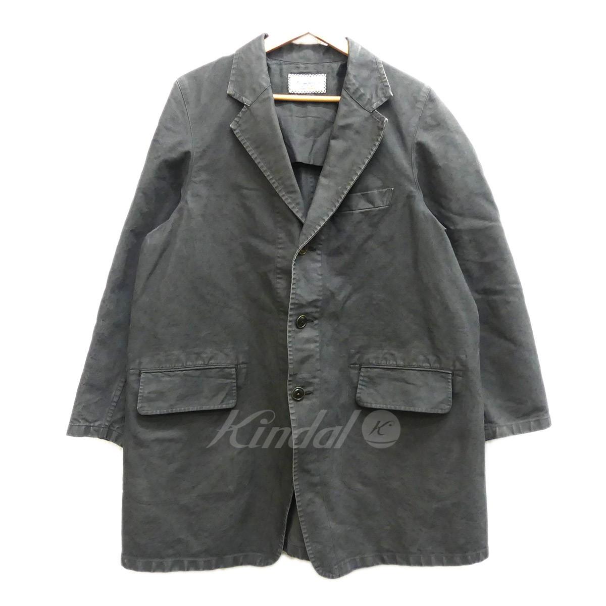 【中古】The Crooked Tailor Tailor collar cutaway tent line coat 3Bコート インクブラック サイズ:46 【送料無料】 【090419】(ザ クルーキッドテーラー)