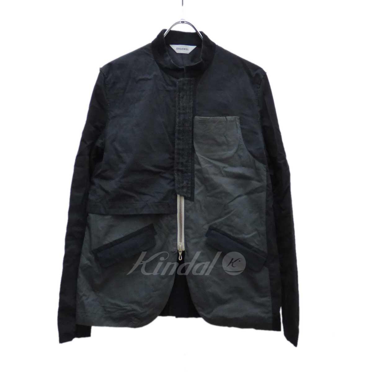 【中古】DIGAWEL 変則切替ZIPジャケット ブラック×グレー サイズ:1 【送料無料】 【090419】(ディガウェル)