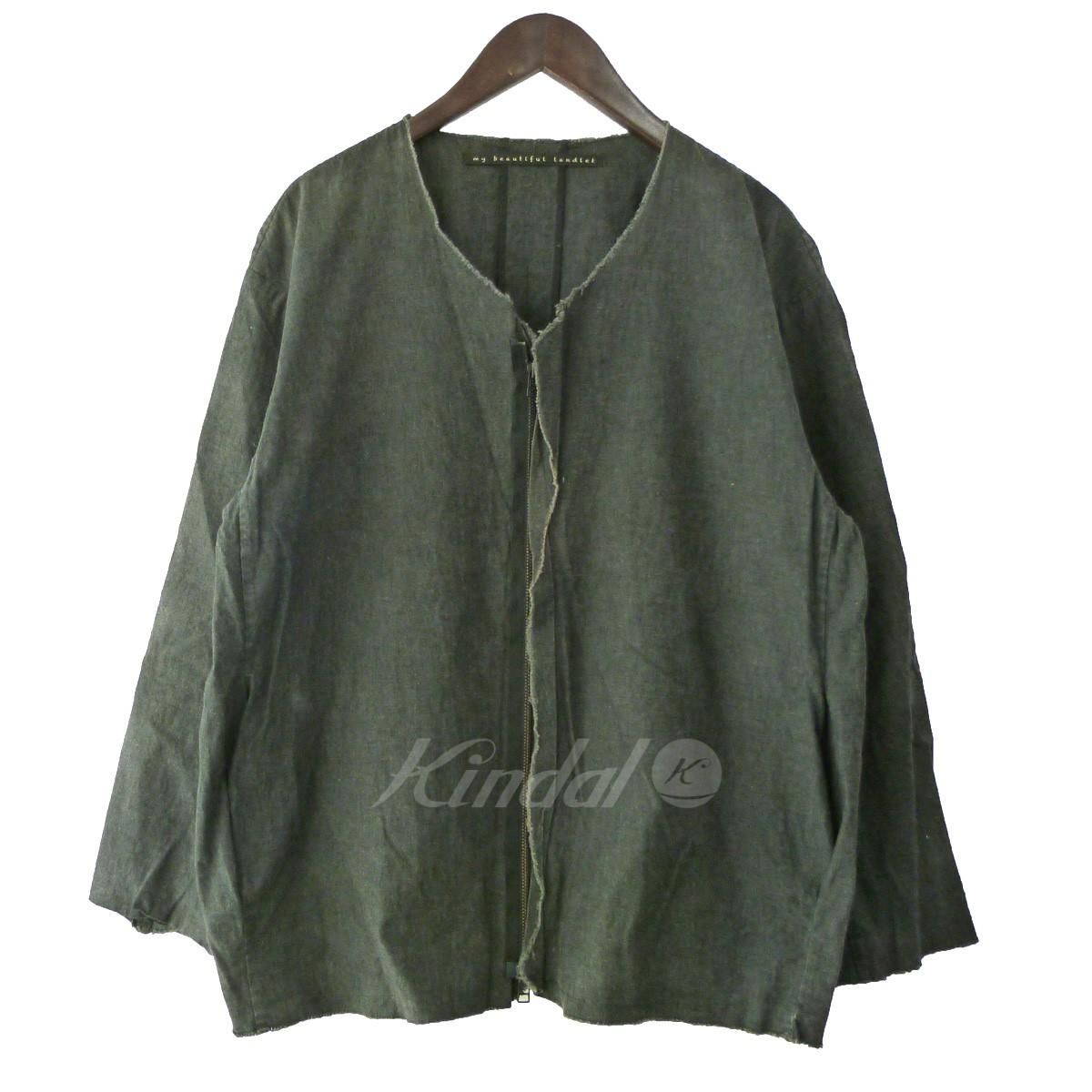 【中古】my beautiful landlet デニムシャツジャケット ブラック サイズ:1 【送料無料】 【090419】(マイビューティフルランドレット)